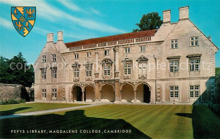 AK / Ansichtskarte Bibliothek_Library Pepys Library Magdalene College Cambridge Bibliothek Library