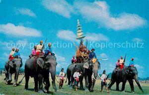 AK / Ansichtskarte Elefant Ancient Battle Elephants Surin Thailand  Elefant