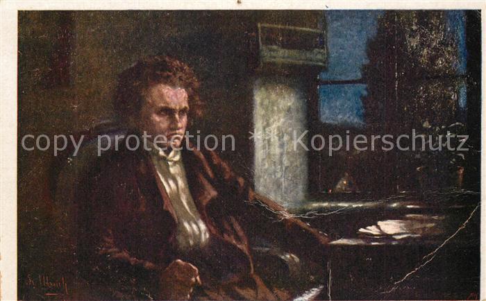 AK / Ansichtskarte Beethoven Kuenstlerkarte Fr. Ulreich Wiener Kunst Beethoven