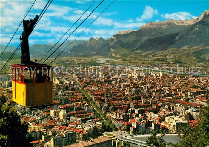 AK / Ansichtskarte Grenoble Vue generale prise de la station superieure du telepherique Grenoble