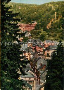 AK / Ansichtskarte Monschau mit Blick auf Rotes Haus und Burgruine Haller Monschau