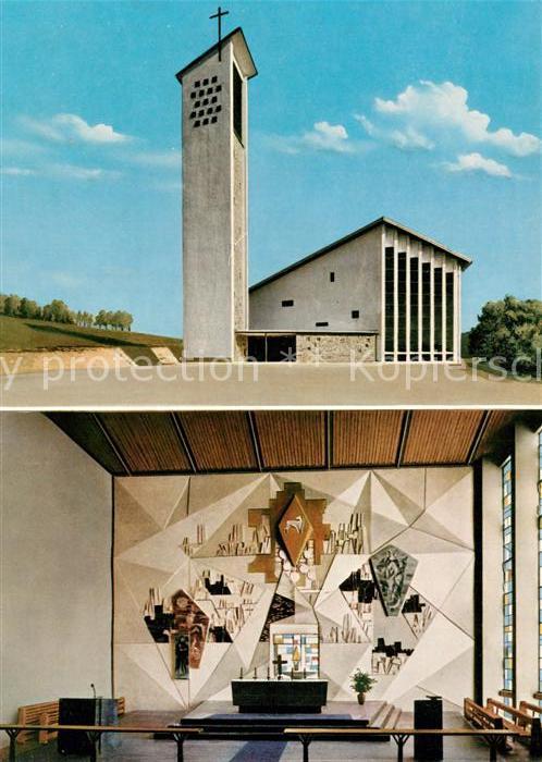 AK / Ansichtskarte Riedlhuette Katholische Kirche Innenansicht Riedlhuette