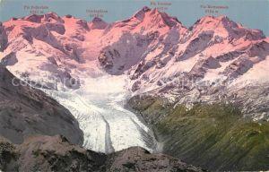 AK / Ansichtskarte Morteratschgletscher Bernina vom Pizt Languard Morteratschgletscher