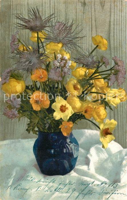 Ak Ansichtskarte Blumen Vase Blumen Nr Kp46627 Oldthing
