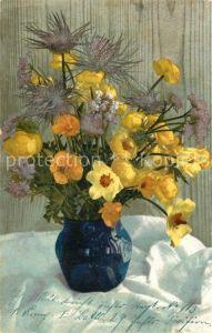 AK / Ansichtskarte Blumen Vase  Blumen