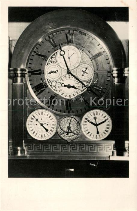 AK / Ansichtskarte Uhren Kunstuhr Fachschule Feinmechanik Uhrentechnik Glashuette  Uhren