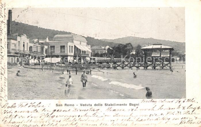 AK / Ansichtskarte San_Remo Veduta dello Stabilimento Bagni San_Remo