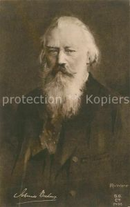AK / Ansichtskarte Hamburg Portrait Johannes Brahms Hamburg