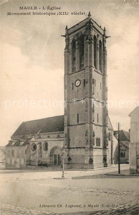 AK / Ansichtskarte Maule Eglise Monument historique Maule