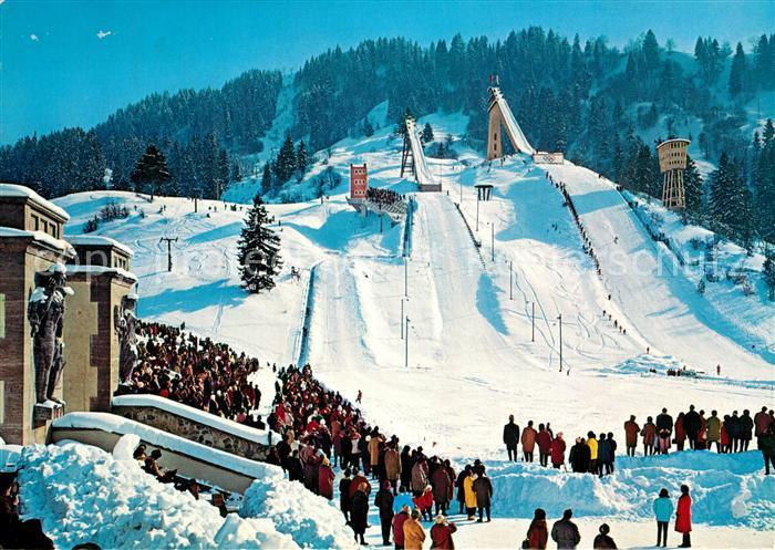 AK / Ansichtskarte Ski Flugschanze Olympia Skistadion Garmisch Partenkirchen  Ski Flugschanze