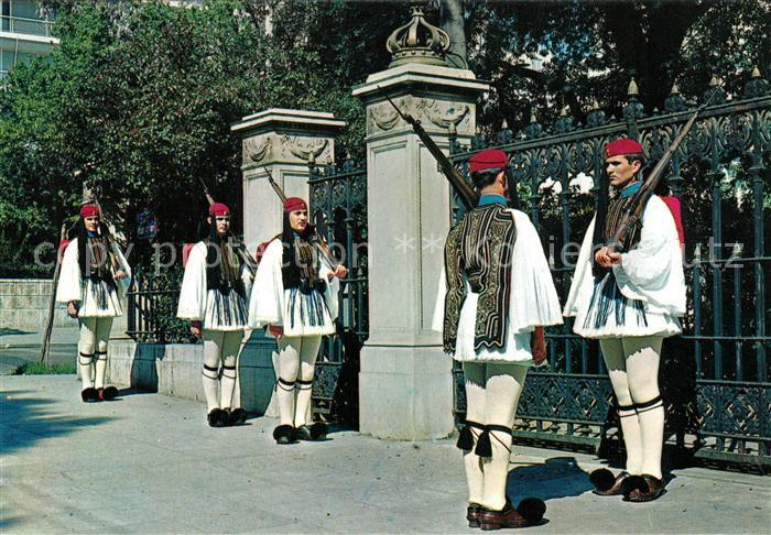 AK / Ansichtskarte Leibgarde_Wache Evzonen Griechenland  Leibgarde Wache