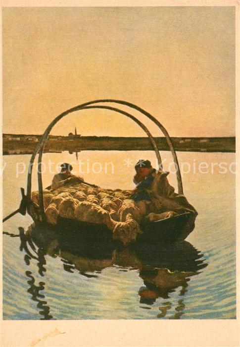 AK / Ansichtskarte Segantini_Giovanni Ave Maria Spendenkarte Krebsbekaempfung Segantini Giovanni
