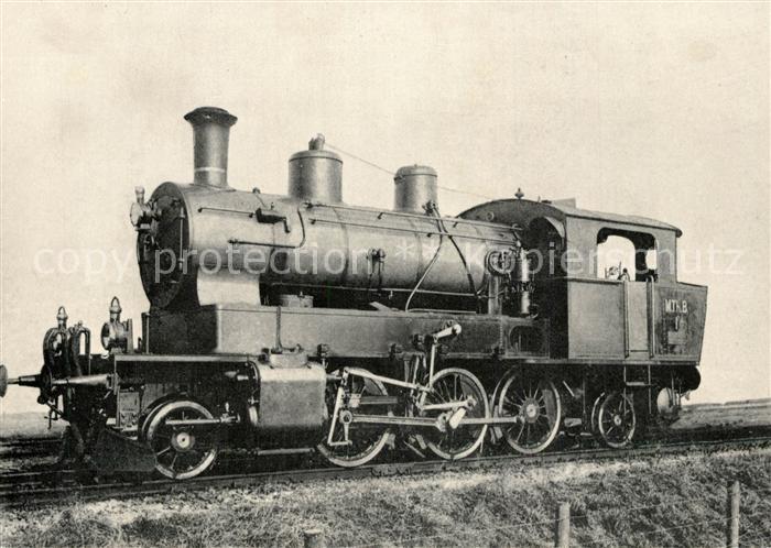 AK / Ansichtskarte Lokomotive Dampflok Mittel Thurgau Bahn Nr. 1 4  Lokomotive