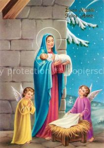 AK / Ansichtskarte Weihnachten Neujahr Christkind Heilige Maria Engel  Weihnachten