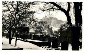 AK / Ansichtskarte Edinburgh Greyfriars Kirkyard and Castle Edinburgh