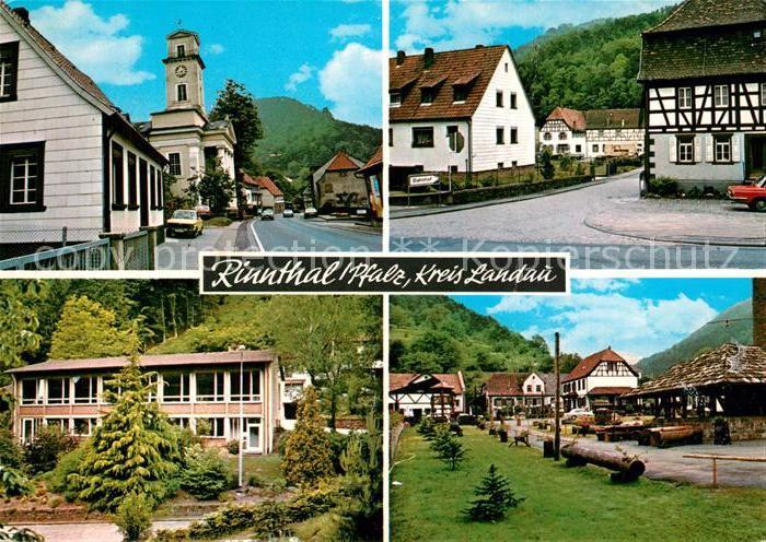 AK / Ansichtskarte Rinnthal Hauptstrasse Kirche Fachwerkhaus Schule Rinnthal
