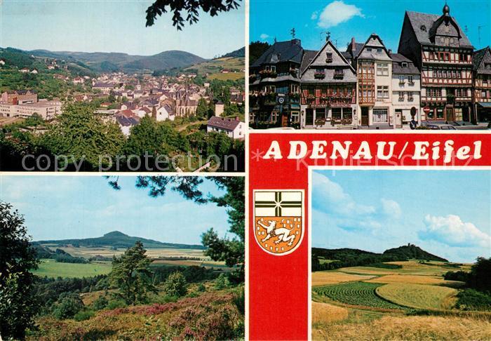 AK / Ansichtskarte Adenau Gesamtansicht Landschaftspanorama Stadtzentrum Fachwerkhaeuser Adenau 0