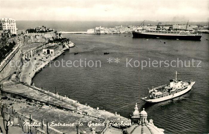 AK / Ansichtskarte Malta Entrance to Grand Harbour Malta