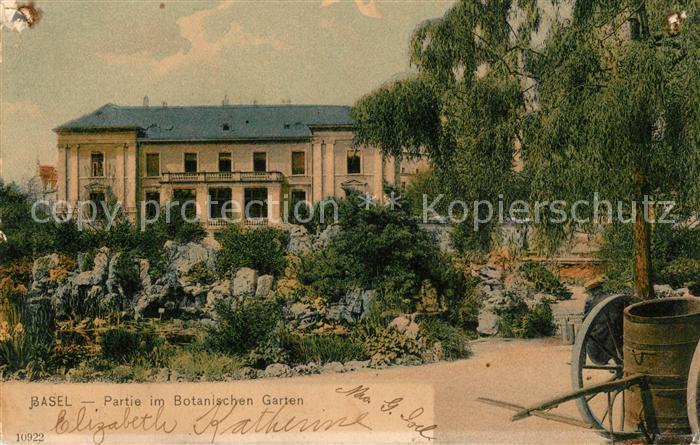 AK / Ansichtskarte Basel_BS Partie im Botanischen Garten Basel_BS