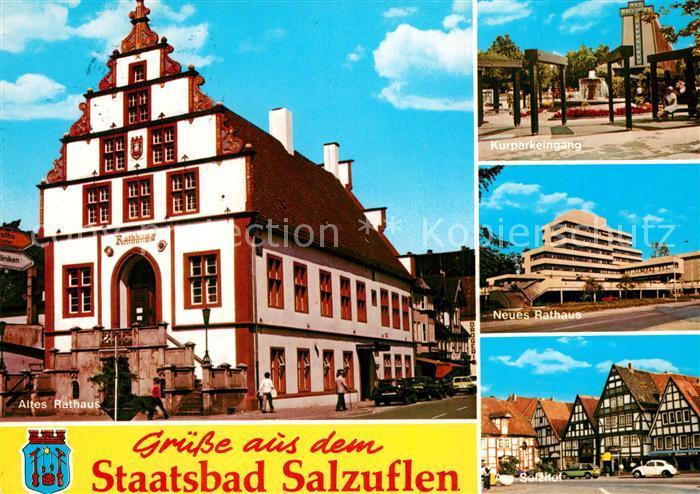 AK / Ansichtskarte Bad_Salzuflen Altes Rathaus Neues Rathaus  Bad_Salzuflen