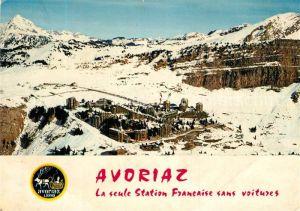 AK / Ansichtskarte Avoriaz Station d hiver et les pistes Alpes Francaises vue aerienne Avoriaz