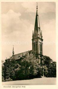 AK / Ansichtskarte Komotau Evangelische Kirche  Komotau