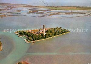 AK / Ansichtskarte Grado_Gorizia Laguna di Grado Isola di Santa Maria di Barbano veduta aerea Grado Gorizia