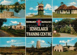 AK / Ansichtskarte Sennelager Trainingszentrum Normandie Barracken Muehle Ruinen  Sennelager