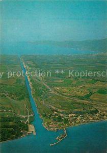 AK / Ansichtskarte Korinth_Corinthe Isthmus Fliegeraufnahme Korinth Corinthe