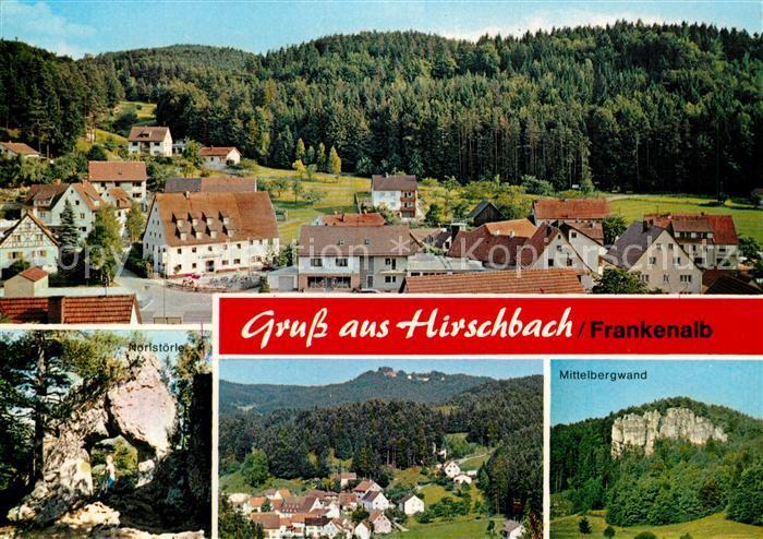 AK / Ansichtskarte Hirschbach_Oberpfalz Panorama Noristoerle Mittelbergwand Hirschbach Oberpfalz