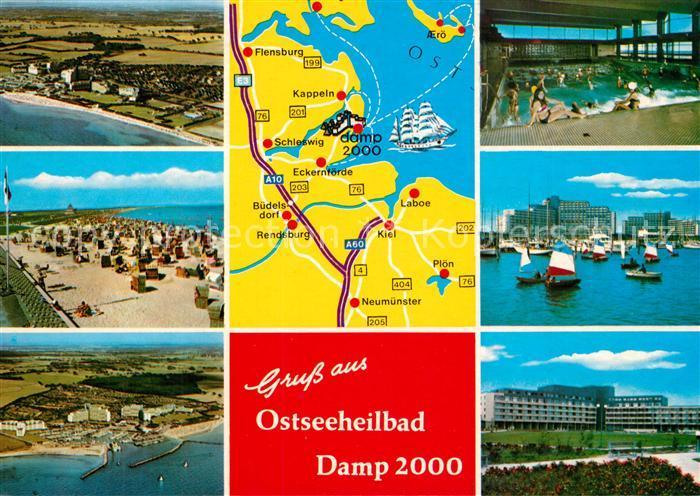 Plz Damp Mit Karte Postleitzahlen 24351 Schleswig Holstein
