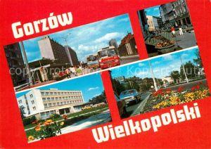 AK / Ansichtskarte Gorzow_Wielkopolski Innenstadt Hotel Bus Strassenpartie Gorzow Wielkopolski