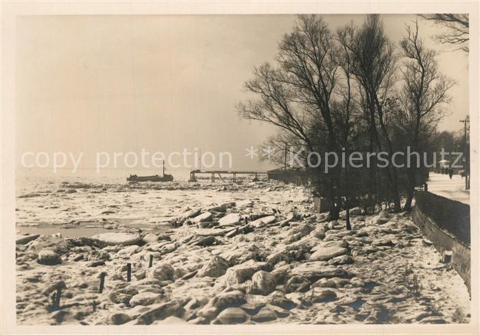 AK / Ansichtskarte Blankenese Eisschollen am Strand Blankenese