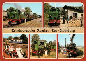 AK / Ansichtskarte Radebeul Traditionsbahn Radebeul Ost Radeburg Radebeul