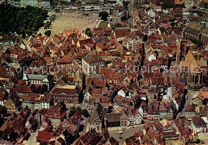 AK / Ansichtskarte Colmar_Haut_Rhin_Elsass Vieille Ville vu du ciel par Alain Perceval Colmar_Haut_Rhin_Elsass