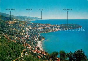 AK / Ansichtskarte Roquebrune Cap Martin Vue generale sur le Cap Martin Cote d Azur Roquebrune Cap Martin