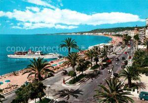AK / Ansichtskarte Nice_Alpes_Maritimes Promenade des Anglais et la Baie des Anges Cote d Azur Nice_Alpes_Maritimes