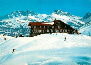 AK / Ansichtskarte Fideris Skihaus Heuberge  Fideris