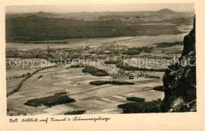 AK / Ansichtskarte Niemes Blick vom Roll Kummergebirge Niemes