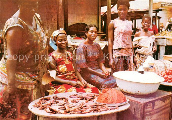 AK / Ansichtskarte Ghana Market scene Ghana
