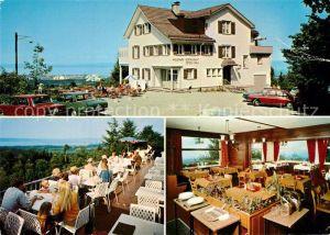 AK / Ansichtskarte St_Gallen_SG Wildpark Restaurant Peter und Paul Terrasse Gaststube St_Gallen_SG