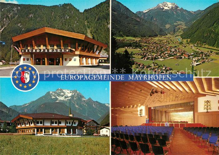 AK / Ansichtskarte Mayrhofen_Zillertal Europahaus Offizielle Erinnerungskarte zur Einweihung des Veranstaltungs  und Kongresszentrums Alpenpanorama Mayrhofen_Zillertal