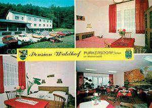 AK / Ansichtskarte Purkersdorf Pension Waldhof Fremdenzimmer Gastraum Purkersdorf