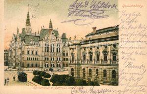 AK / Ansichtskarte Reichenberg_Liberec Rathaus Theater  Reichenberg Liberec