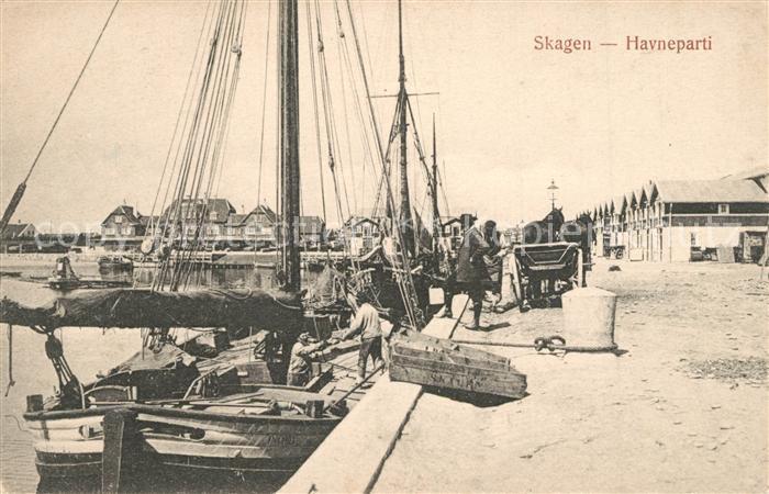 AK / Ansichtskarte Skagen Havneparti Skagen
