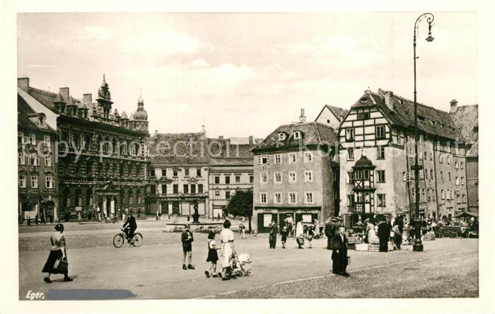 AK / Ansichtskarte Eger_Cheb_Tschechien Stadtpanorama
