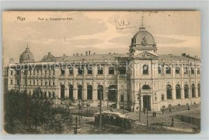 AK / Ansichtskarte Riga_Lettland Post Telegraphen Amt Riga_Lettland