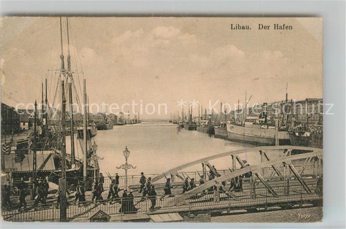 AK / Ansichtskarte Libau Hafen Libau