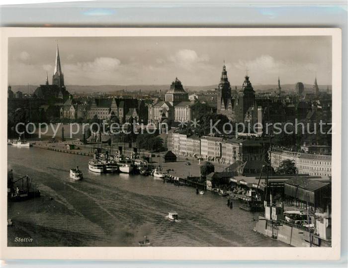 AK / Ansichtskarte Stettin_Pommern Stadtansicht Hafen  Stettin Pommern