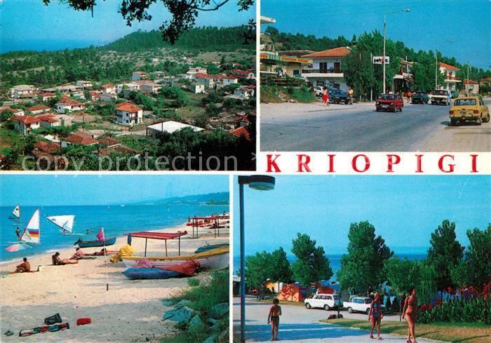 AK / Ansichtskarte Kriopigi Camping Strand